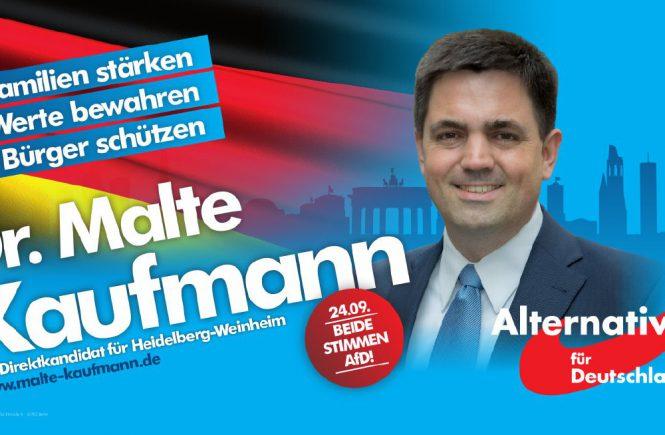 Dr. Malte Kaufmann AfD - Familien stärken, Werte bewahren, Bürger schützen