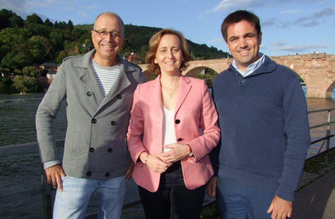 Dr. Malte Kaufmann, Beatrix von Storch und Matthias Niebel in Heidelberg