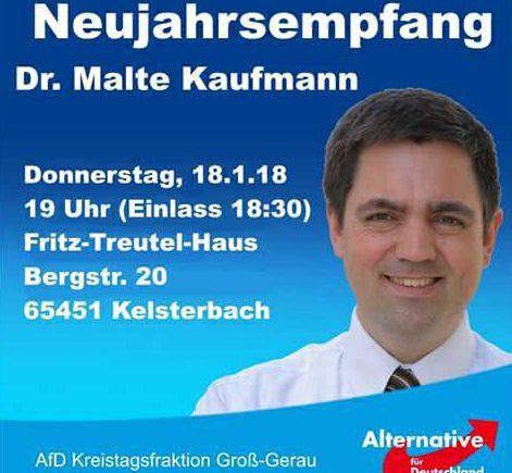 Dr. Malte Kaufmann Neujahrsempfang Groß Gerau