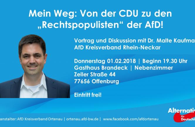 Dr. Malte Kaufmann Von der CDU zur AfD