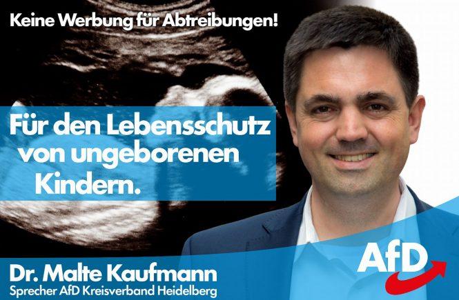 Dr. Malte Kaufmann AfD Lebensschutz