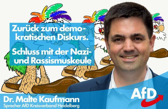 Dr. Malte Kaufmann AfD Schluss mit der Nazi- und Rassismuskeule!