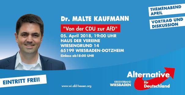 Dr. Malte Kaufmann AfD in Wiesbaden 5.4.2018