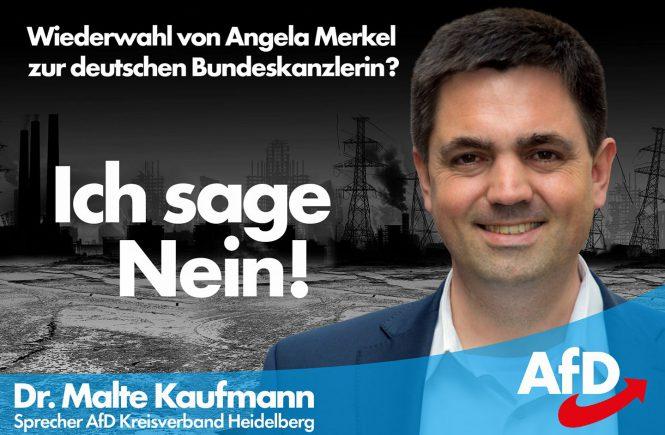 Dr. Malte Kaufmann - nein zur Wiederwahl von Angela Merkel