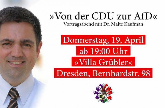 Dr. Malte Kaufmann 19.4.2018 Vortragsabend Dresden von der CDU zur AfD