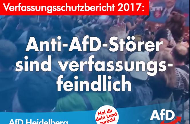 AfD Heidelberg Dr. Malte Kaufmann Verfassungsfeindliche Aktion der Linksradikalen