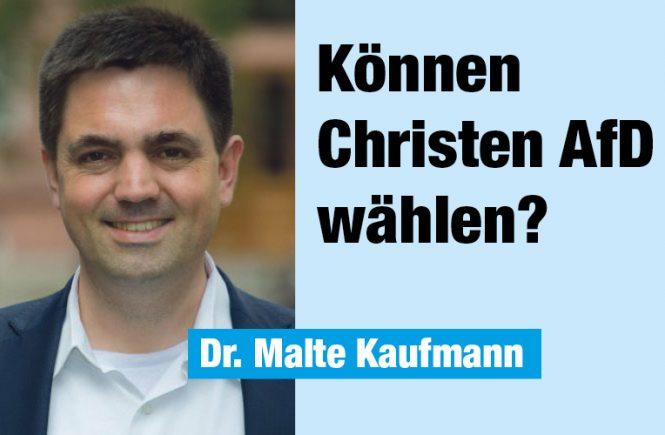 Können Christen AfD wählen Deutschland Kurier Dr. Malte Kaufmann