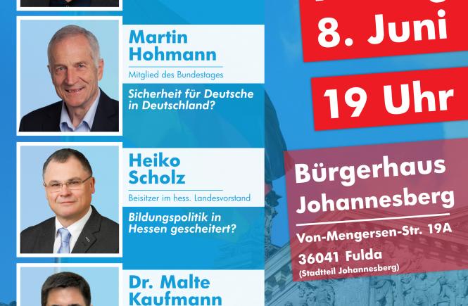 8.6.2018 Fulda mit Guido Reil, Dr. Malte Kaufmann et al. AfD