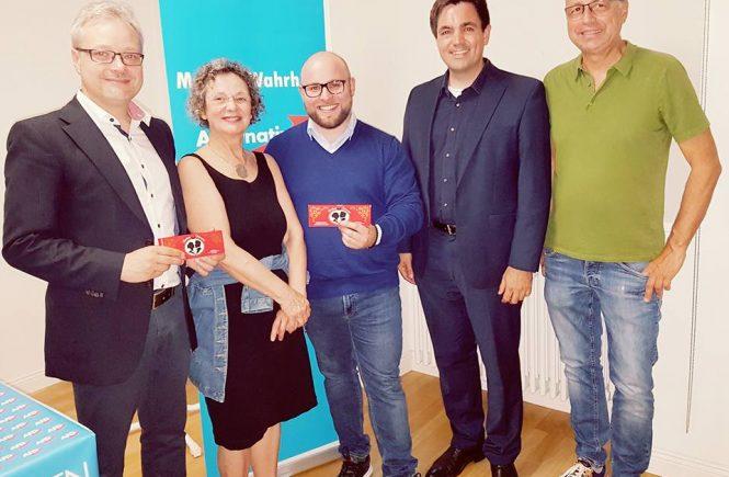 Infoabend Dr. Malte Kaufmann, Markus Frohnmaier, Marc Bernhard, AfD