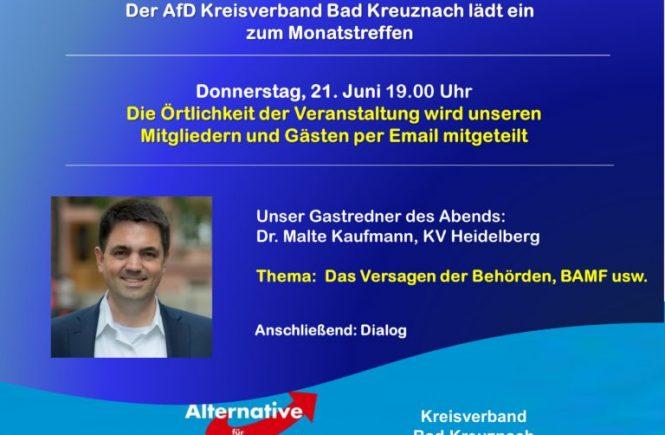 JuniTreffen AfD Bad Kreuznach mit Dr. Malte Kaufmann
