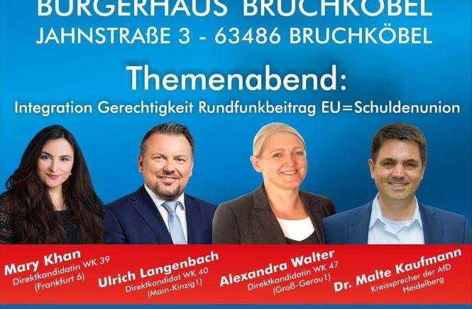 Vortrag Dr. Malte Kaufmann AfD und andere in Bruchköbel Hessen 22.6.2018