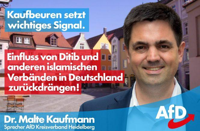 Dr. Malte Kaufmann AfD Einfluss islamischer Verbände zurückdrängen