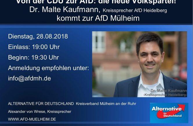 Dr. Malte Kaufmann AfD in Mülheim