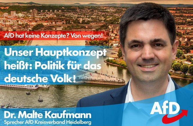 Politik für das deutsche Volk Dr. Malte Kaufmann AfD