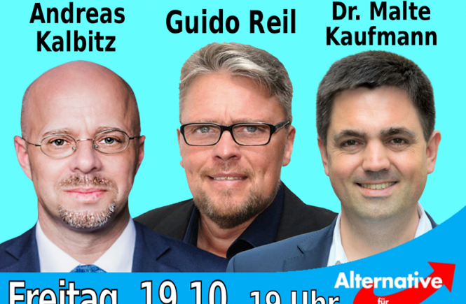 Andreas Kalbitz, Guido Reil, Dr. Malte Kaufmann AfD 19.10.2018
