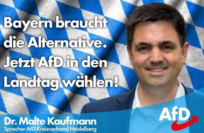 Dr. Malte Kaufmann AfD Bayern Landtagswahl