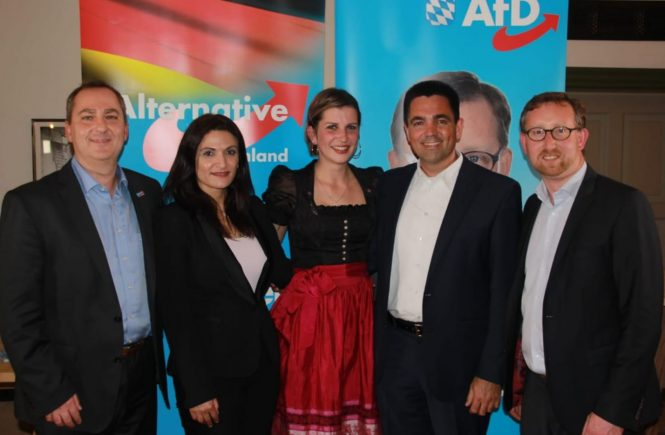 Dr. Malte Kaufmann AfD und Leyla Bilge AfD in Pittenhart