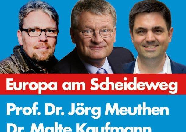 Prof. Jörg Meuthen MdEP, Dr. Malte Kaufmann, Guido Reil AfD 9.11.2018 Heidelberg