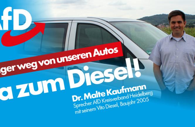 Dr. Malte Kaufmann AfD JA zum Diesel