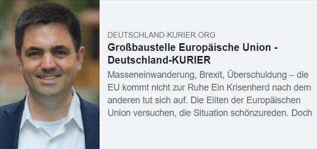 Großbaustelle Europäische Union Dr. Malte Kaufmann AfD
