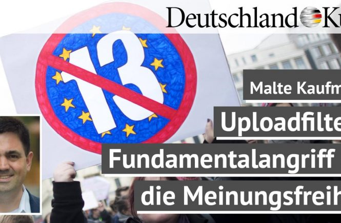 Dr. Malte Kaufmann Artikel 13 Uploadfilter