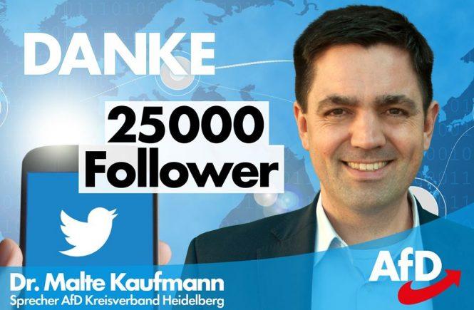 Dr. Malte Kaufmann 25.000 Follower auf Twitter