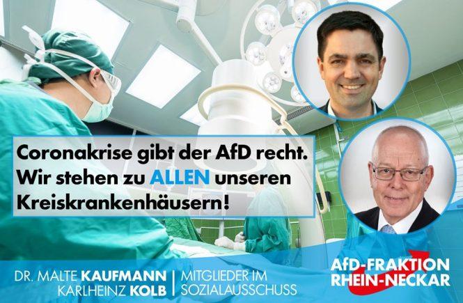 Kreiskrankenhäuser Dr. Malte Kaufmann und Karlheinz Kolb AfD