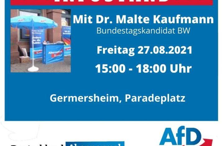 AfD Infostand Germersheim